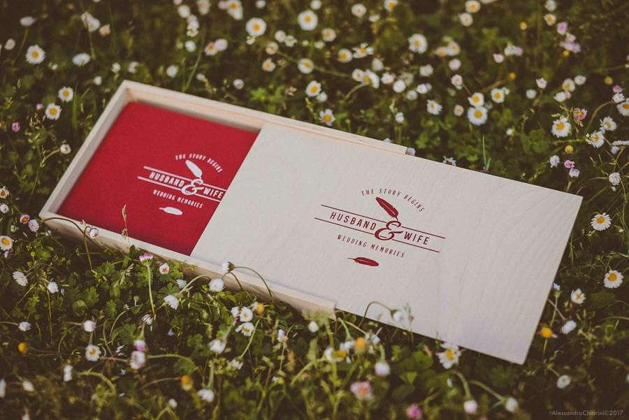 fotolibro matrimonio box legno stile vintage
