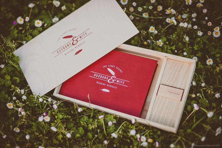 fotolibro matrimonio box legno chiavetta usb
