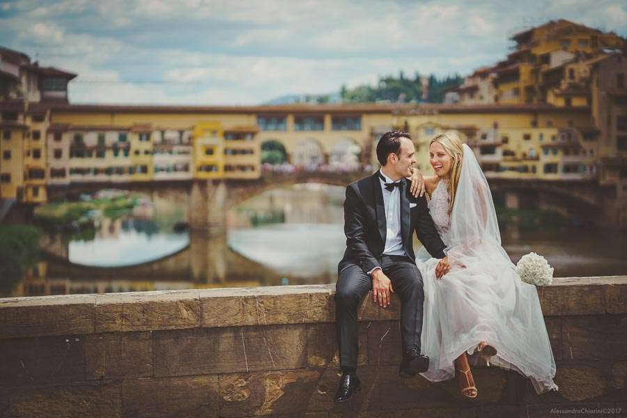 Ponte Vecchio Bridge Florence italy wedding photographer