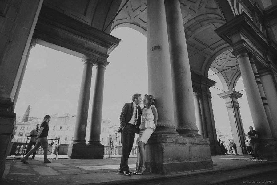 Uffizi Gallery Florence Italy wedding photographer
