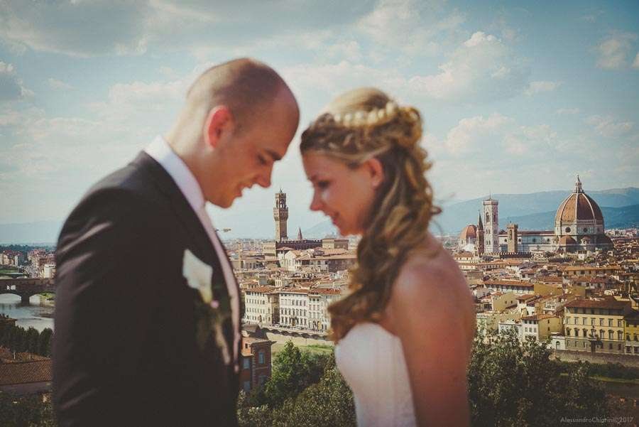 view of Florence wedding photographer
